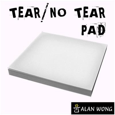 No Tear Pad (Small, 3.5 X 3.5, Tear/No Tear Alternating) by Alan Wong