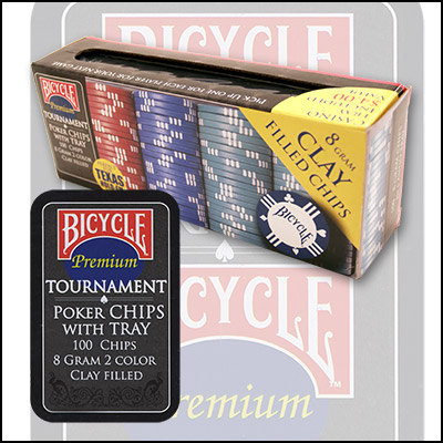 Bicycle Clay Poker Chip Set: 100 Count