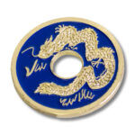 Chinese Coin (Blue - Half Dollar Size) by Royal Magic