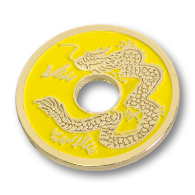 Chinese Coin (Yellow - Half Dollar Size) by Royal Magic