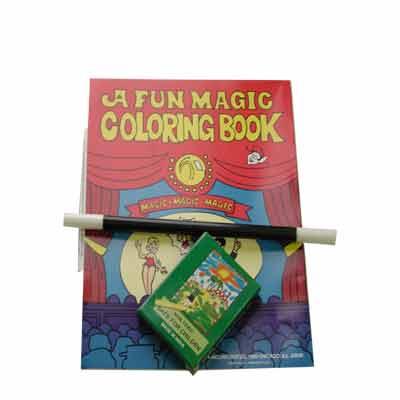 Coloring Book kit-crayon, wand, book by Royal Magic