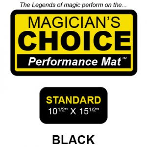 Standard Close-Up Mat (BLACK - 10.5x15.5) by Ronjo