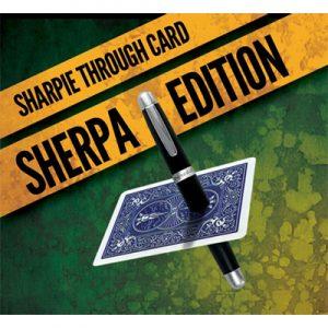 Sharpie Through Card SHERPA Version Blue by Alakazam Magic - DVD