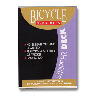 Stripper Deck Bicycle (Blue) by US Playing Card