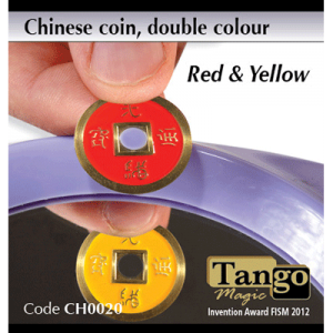 Chinese Coin (CH0020) Red & Yellow by Tango Magic s