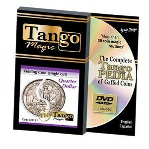 Folding Quarter dollar (Single cut w/DVD) (D0121) by Tango