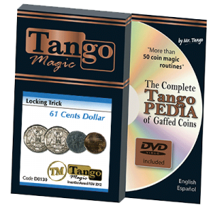 Locking Trick 61 cents (w/DVD)(2 Quarters, 1 Dime, 1 Penny) by Tango (D0130)