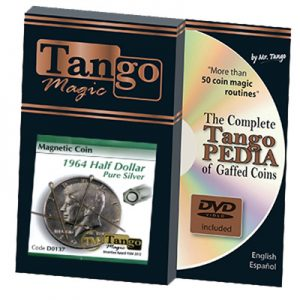 Magnetic Coin Half Dollar 1964 (w/DVD) (D0137) by Tango s