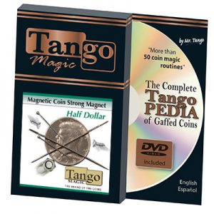 Strong Magnetic Half Dollar (w/DVD)(D0112) by Tango