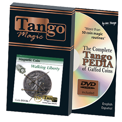 Magnetic Coin Walking Liberty (w/DVD) (D0136) by Tango s