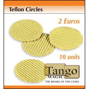 Teflon Circle 2 Euro size (10 units w/DVD) by Tango (T003)