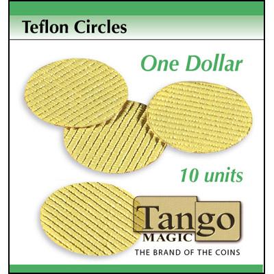 Teflon circles Dollar size (10 units w/DVD) by Tango -Trick (T002)