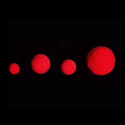 3/4 inch Crochet Balls (Red) (1 ball = 1 unit) by Uday