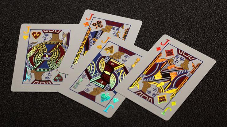Vegas Diffractor Ultraviolet (Metal) Playing Cards