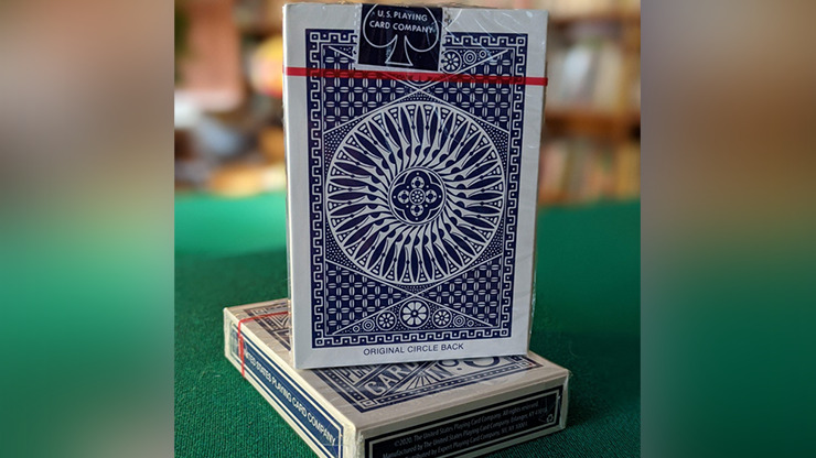 Experts Thin Crushed Tally Ho Circle Back (Blue) Playing Cards