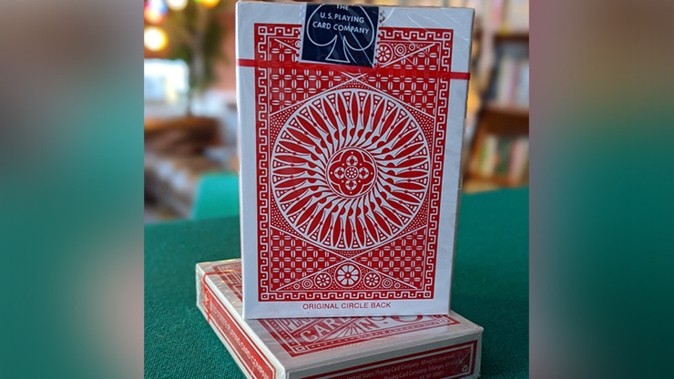 Experts Thin Crushed Tally Ho Circle Back (Red) Playing Cards