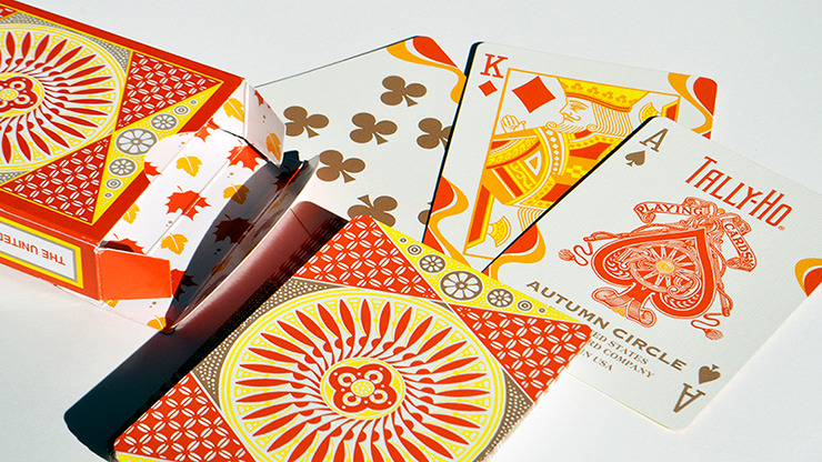 Tally-Ho Autumn Circle Back Playing Cards
