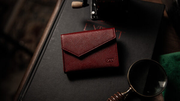 Luxury Leather Playing Card Carrier (Red) by TCC