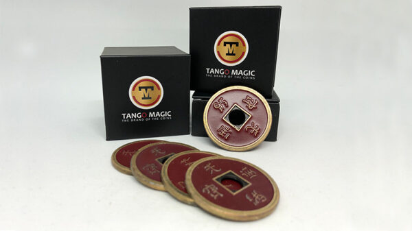 Expanded Shell Chinese Coin made in Brass (Red) by Tango (CH007)