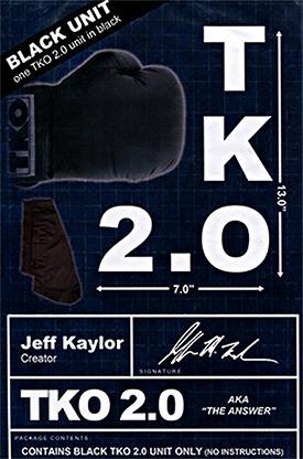 TKO 2.0 Gimmick only (Black) by Jeff Kaylor