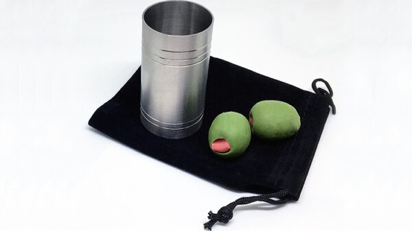 """Spirit/Shot Measure """"Chop Cup"""" with Olives By Mike Busby"""