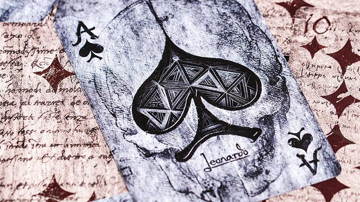 Leonardo MMXVIII Silver Edition by Art Playing Cards