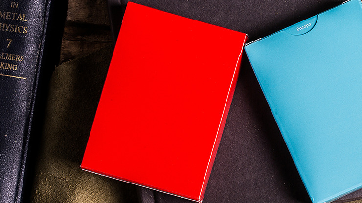 Steel Playing Cards (Red) by Bocopo