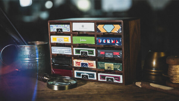 Wooden Playing Cards Cabinet (15 Deck Case) by TCC