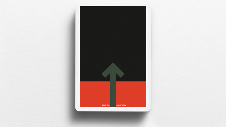 Offset Orange Playing Cards by Cardistry Touch