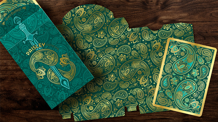 Paisley Royals (Teal) Playing Cards by Dutch Card House Company