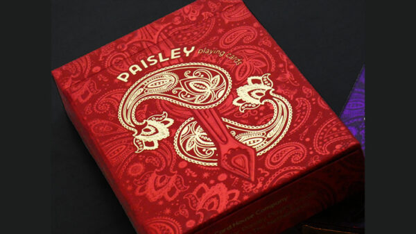 Paisley Royals (Red) Playing Cards by Dutch Card House Company