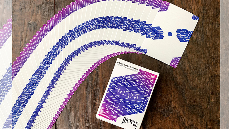 Bicycle Neon Blue Aurora Playing Cards