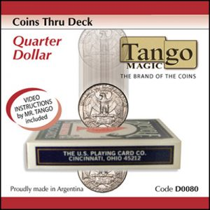 Coins Thru Deck Quarter by Tango (D0080)