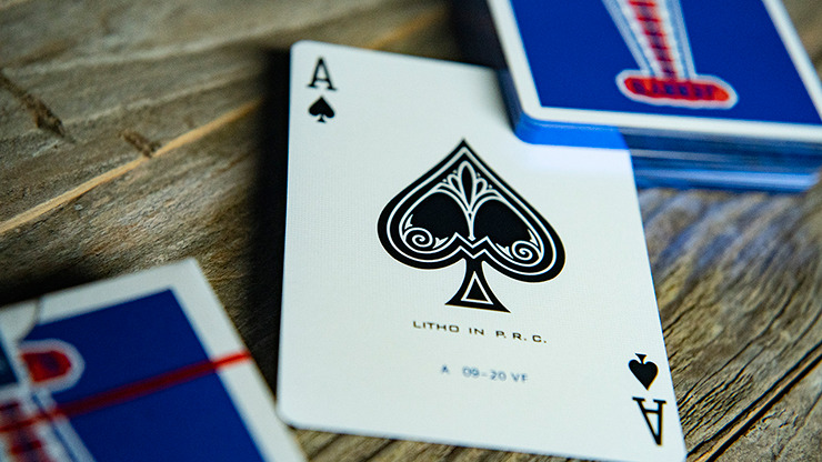 Gilded Vintage Feel Jerry's Nuggets (Blue) Playing Cards