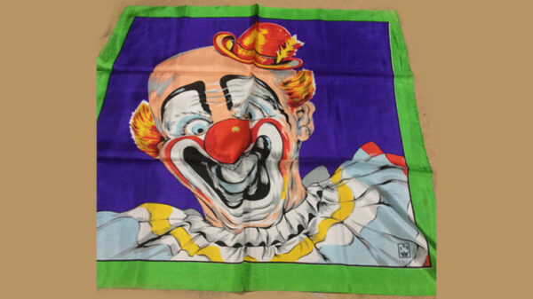 """Rice Picture Silk 27"""" (Circus Clown) by Silk King Studios"""
