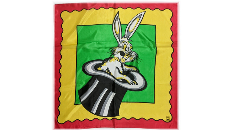 """Rice Picture Silk 27"""" (Rabbit in Hat) by Silk King Studios"""