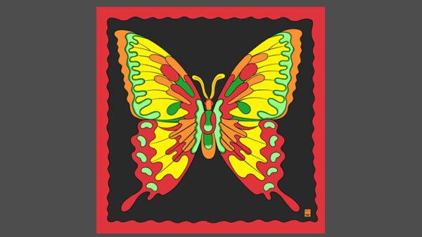 "Rice Symphony Silk 36"" (Butterfly) by Silk King Studios"