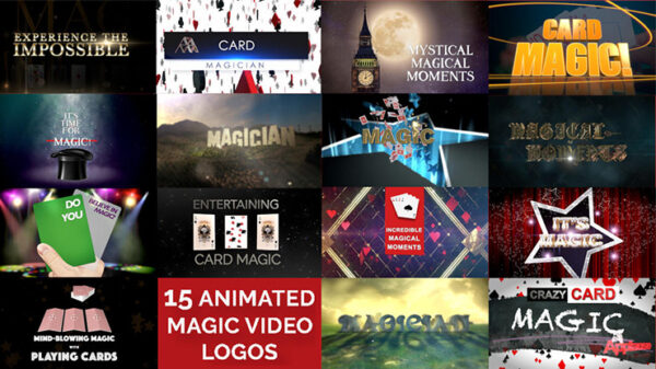 15 Magic Video Logos for Magicians by Wolfgang Riebe mixed media DOWNLOAD - Download