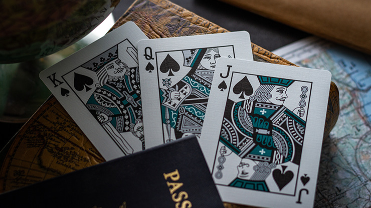 Lounge Edition in Terminal Teal by Jetsetter Playing Cards