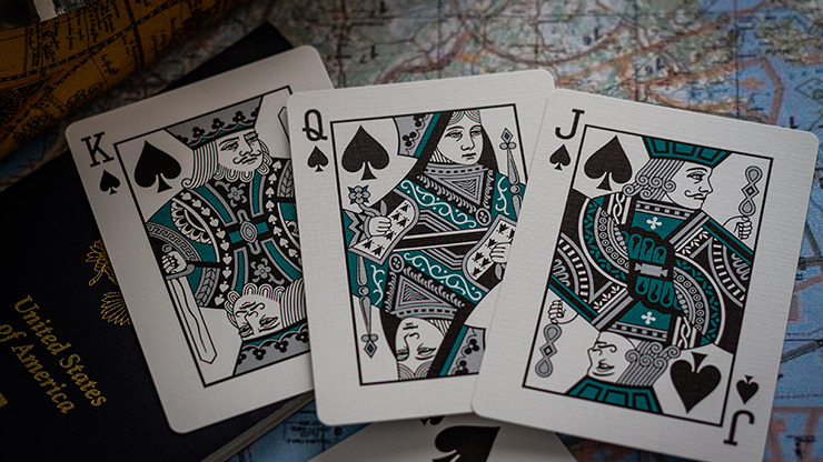 Limited Edition Lounge in Terminal Teal by Jetsetter Playing Cards