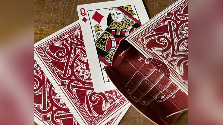 RAVN IIII (Red) Playing Cards Designed by Stockholm17