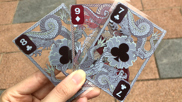 Dragon Transparent Playing Cards (Classic Silver)