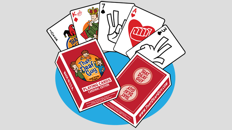 That Deaf Guy RED Cardinal Edition Playing Cards