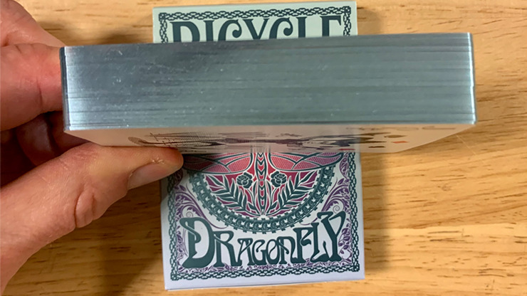 Gilded Bicycle Dragonfly (Teal) Playing Cards
