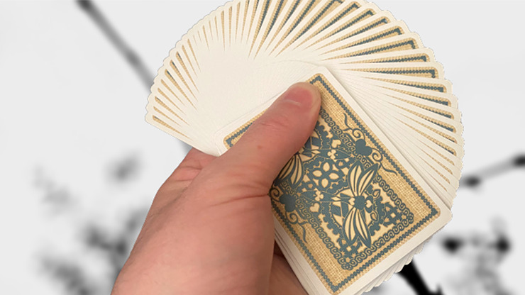 Gilded Bicycle Dragonfly (Tan) Playing Cards