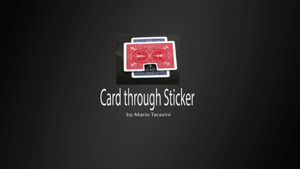 Card through Sticker by Mario Tarasini video DOWNLOAD - Download