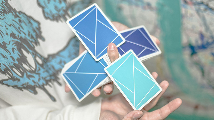 Flexible Gradients Blue Playing Cards by TCC