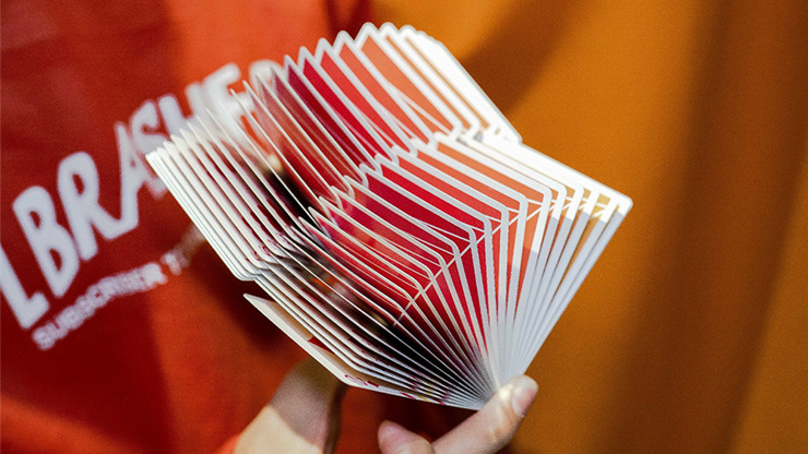 Flexible Gradients Orange Playing Cards by TCC