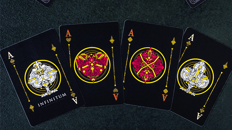 INFINITUM (Midnight Black) Playing Cards