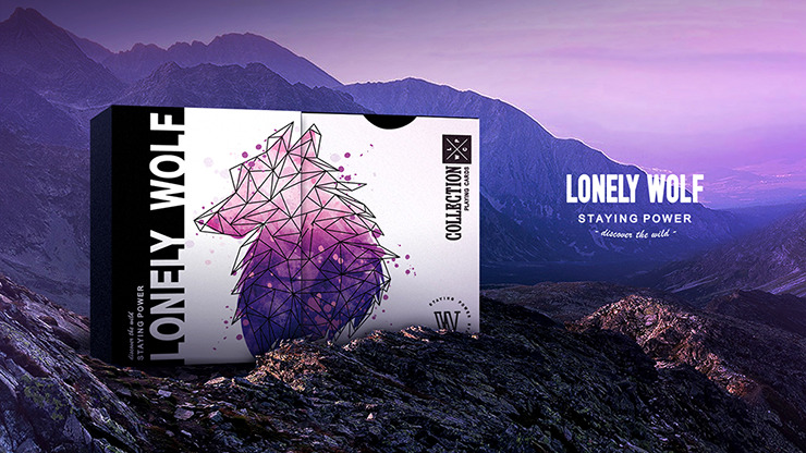Lonely Wolf (Purple) Playing Cards by BOCOPO